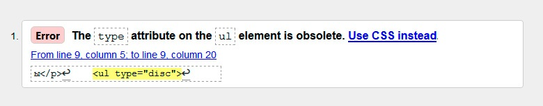 Ошибка на валидаторе при использовании атрибута type