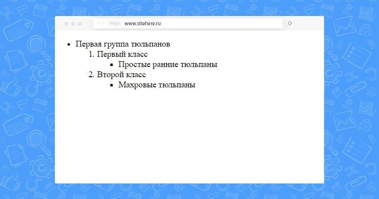 Как сделать маркированный список в html