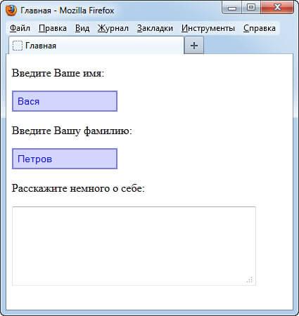 CSS для input