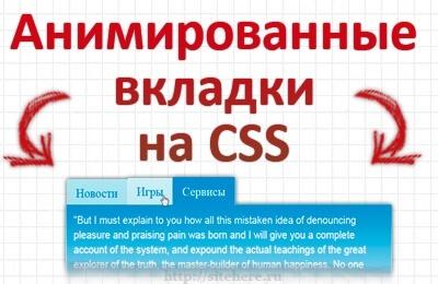 Анимированные вкладки на CSS