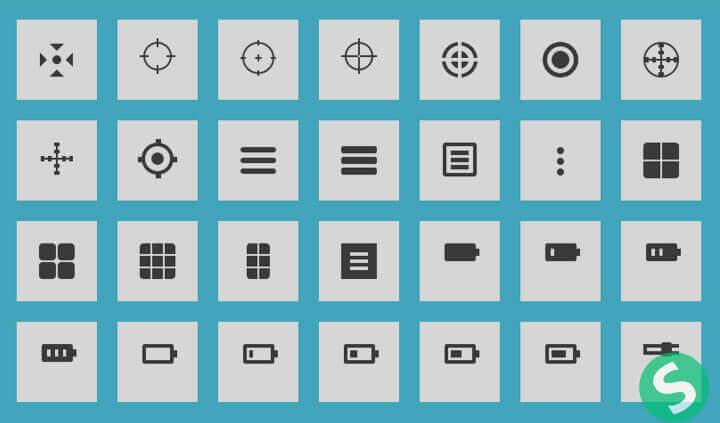 Голубой блок с иконками