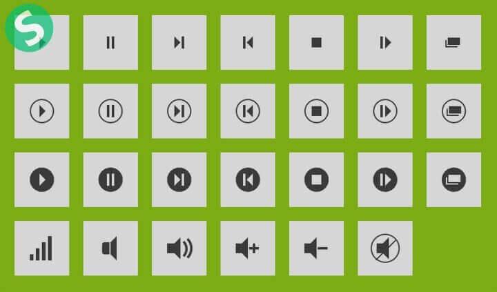Зеленый блок с иконками
