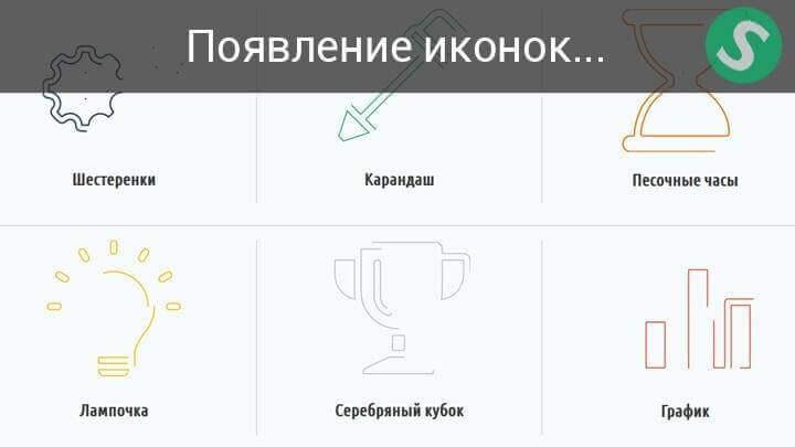 Процесс появления иконок
