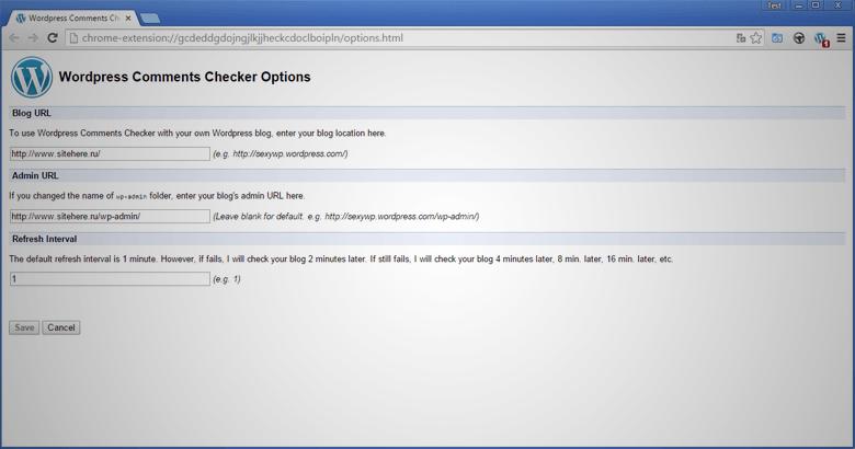 Wordpress Comments Notifier